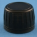 28mm Black Ribbed Tamper Evident Cap with EPE Liner
