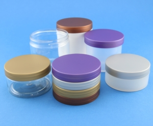 Neville and More's new metallic effect plastic jar lids