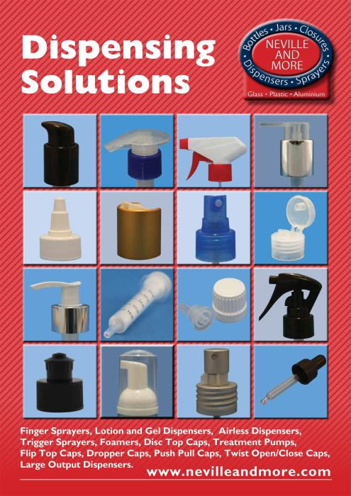 Neville and More launch new brochure for dispensing closures