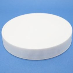 100mm 400 White Ribbed Cap with breathable induction liner