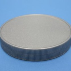 100mm 400 Silver Ribbed Cap with breathable induction liner