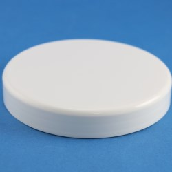 100mm White Smooth Cap with boreseal