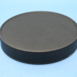 100mm 400 Black Ribbed Cap with breathable induction liner